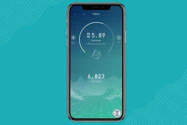 Screenshot of Sweatcoin walking app