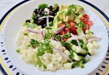 Cauliflower Rice and Black Bean Burrito Bowls