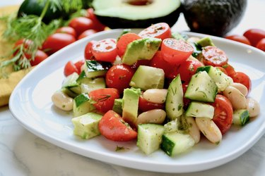 Tomato and White Bean Salad with Herbs