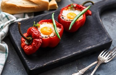 Baked Eggs in Pepper Cups Gluten-Free Recipe