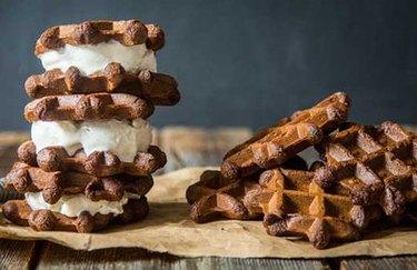 Gluten-Free Ice Cream Protein Sandwiches