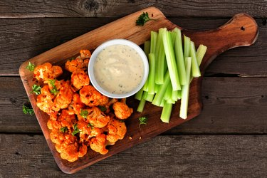 Homemade cauliflower buffalo wings healthy junk food