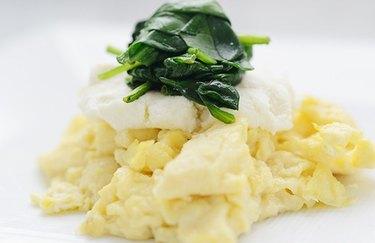 Mediterranean Morning Scramble - protein breakfast
