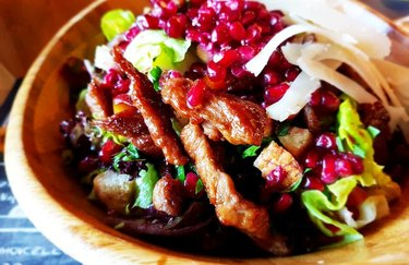 Beef and Pomegranate Salad With Orange-Ginger Vinaigrette healthy red meat recipes