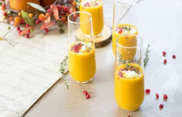 Butternut Squash Soup Shooters fall vegetables soup recipes