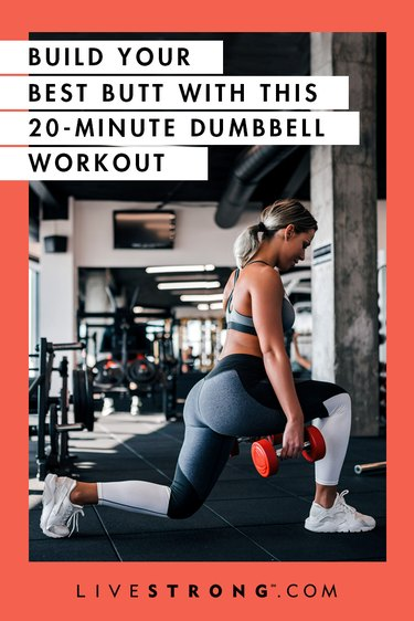 20-minute dumbbell butt workout graphic