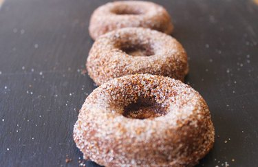 Vegan Maple Doughnuts cinnamon desserts