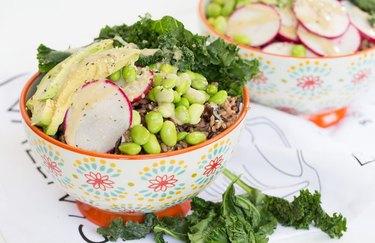 Savory protein breakfast bowl muscle building breakfast recipe.