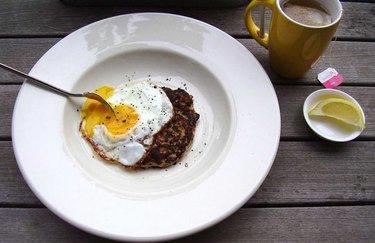 Sunny-Side-Up Breakfast Sausage muscle building breakfast recipe.