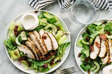 chicken breast on salad Healthy Chicken Recipes