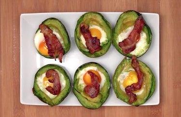 Avocado Egg Cups 20-minute dinner recipe.
