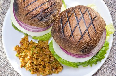 """Grilled Vegetable """"Burgers"""" Mediterranean Dinner Recipe"""
