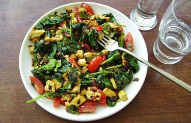Vegan curry sunrise scramble plant based high protein meals