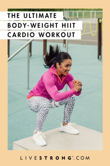 The ultimate body-weight HIIT cardio workout graphic