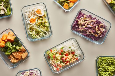 Healthy meal prep food in containers