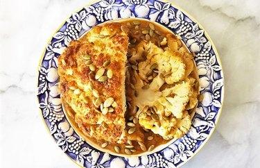 Maple Spiced Cauliflower Roast with Pumpkin Gravy pumpkin seed recipes