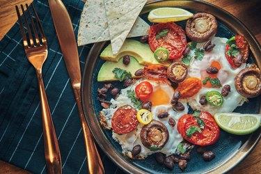 Vitamin D foods like eggs and mushrooms