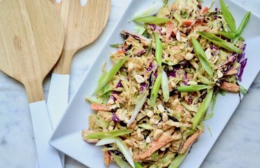 Cruciferous Trio with Peanut Ginger Lime Dressing Brussels Sprouts Recipes