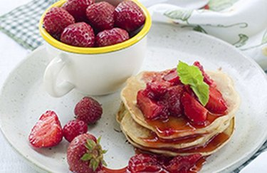 filling breakfast recipes Strawberry Protein Pancakes