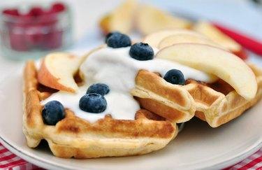 filling breakfast recipes  Whole Grain Waffles