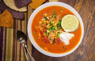 Vegan Mexican Tortilla Soup Tomato Soup recipe