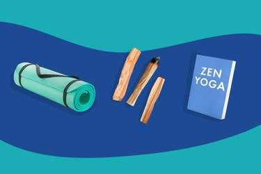illustration of exercise and de-stressing equipment for weight management trend of 2020