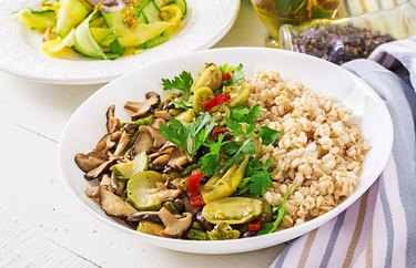 high protein hot oatmeal recipes Savory Vegan Zucchini Oatmeal