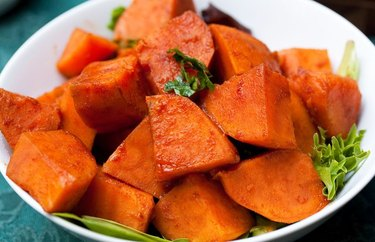 Smoky Maple Sweet Potatoes Vegetarian Thanksgiving Recipes