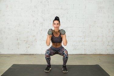 Vanessa Villegas demonstrates thrusters