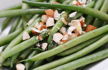 Chopped Almond String Beans Keto Thanksgiving Recipes