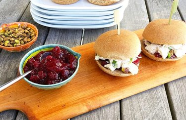 5-Minute Cranberry Chicken Salad Sliders cranberry recipes