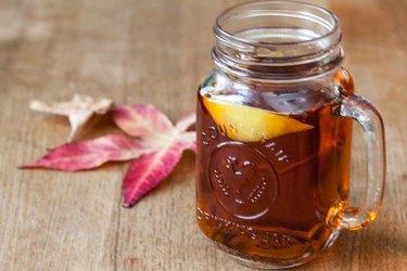 hot toddy in a mason jar