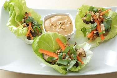 Vegetarian Thai Lettuce Wraps