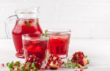 Pomegranate Iced Tea Mocktail dry january mocktails