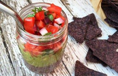 Vegan 3-Layer Mexican Dip in a Jar