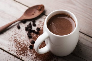 Hot chocolate without all the added sugar and fat.