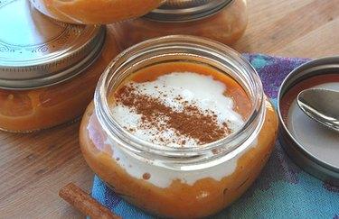 Warm Sweet Potato Pudding in a Jar