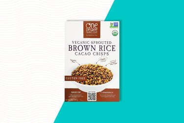 one degree veganic sprouted brown rice cacao crisps gluten-free rice cereal