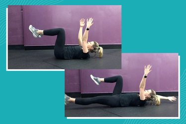 woman demonstrating the dead bug exercise