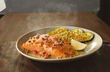 Salmon Piccata at Olive Garden.