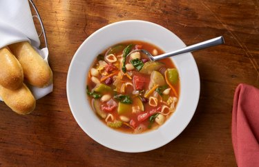 Minestrone soup at Olive Garden.