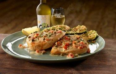 Chicken Piccata at Olive Garden.