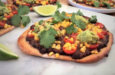 Vegetarian Mexican Personal Pizzas plant-based Mexican recipes