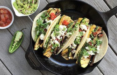 Grilled Farmers' Market Veggie Tacos recipe