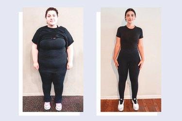 Tina Minasyan's gastric sleeve before and after photos