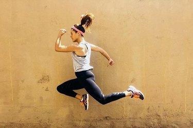woman jumping cardio