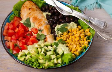 Southwestern Salad With Black Beans Canned Bean Recipe