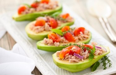 Stuffed Avocado Canned Tuna Recipe