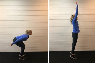 Woman demonstrating how to do a full-body extension