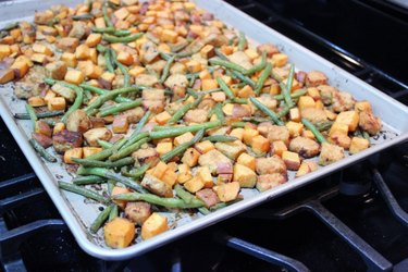 Sheet Pan Miso Ginger Tempeh recipe